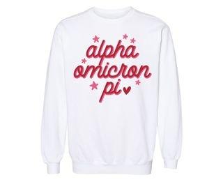 Alpha Omicron Pi Star Sweatshirt
