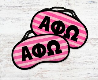 Alpha Phi Omega Pink Stripes Eye MaSigma Kappa