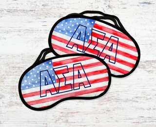 Alpha Sigma Alpha Watercolor Flag Eye Mask