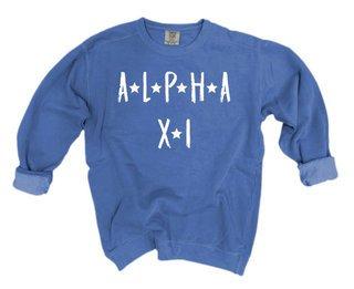 Alpha Xi Delta Comfort Colors Starry Night Crew