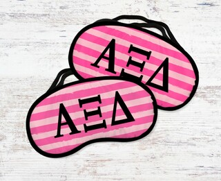 Alpha Xi Delta Pink Stripes Eye MaSigma Kappa