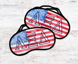 Alpha Xi Delta Watercolor Flag Eye Mask