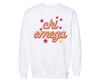 Chi Omega Star Sweatshirt