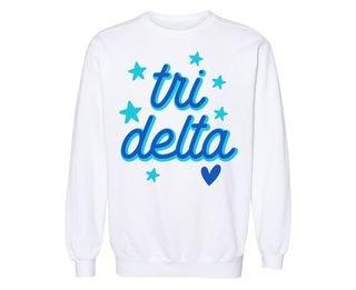 Delta Delta Delta Star Sweatshirt