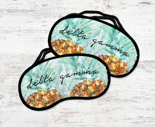 Delta Gamma Pineapple Eye Mask