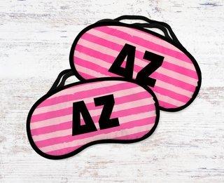 Delta Zeta Pink Stripes Eye Mask