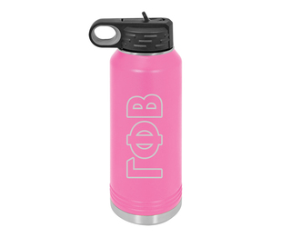Gamma Phi Beta Letters Stainless Water Bottle