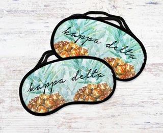 Kappa Delta Pineapple Eye Mask