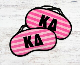 Kappa Delta Pink Stripes Eye Mask