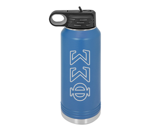 Phi Sigma Sigma Letters Stainless Water Bottle