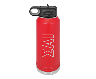 Sigma Alpha Iota Letters Stainless Water Bottle