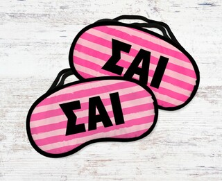 Sigma Alpha Iota Pink Stripes Eye Mask