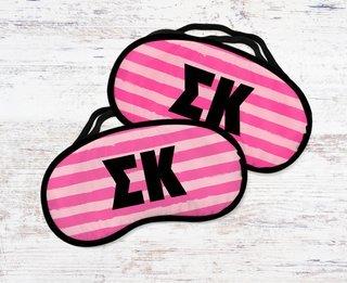 Sigma Kappa Pink Stripes Eye Mask