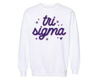 Sigma Sigma Sigma Star Sweatshirt
