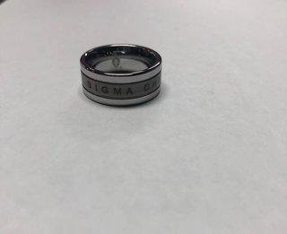 Super Savings - Sigma Chi Tungsten Ring - SILVER