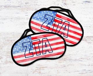 Zeta Tau Alpha Watercolor Flag Eye Mask
