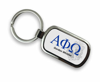 Alpha Phi Omega Chrome Crest - Shield Key Chain