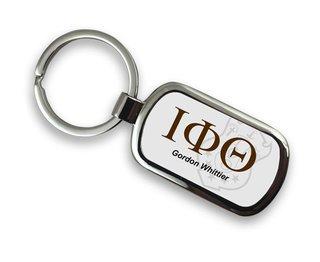 Iota Phi Theta Chrome Crest - Shield Key Chain