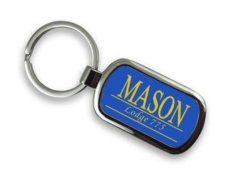 Masonic Chrome Custom Keychain