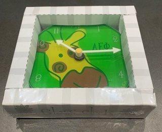 New Super Savings - Alpha Epsilon Phi Leopard Clock - GREEN 1 of 7