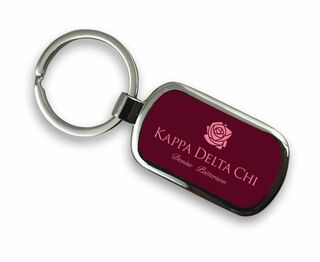 Kappa Delta Chi Chrome Custom Keychain