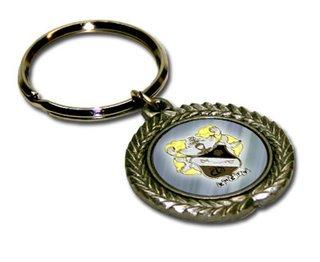 Pewter Greek Key Chain