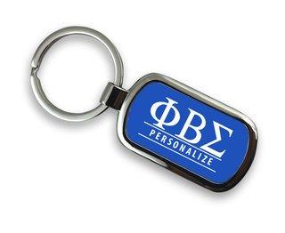 Phi Beta Sigma Chrome Custom Keychain