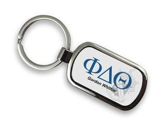 Phi Delta Theta Chrome Crest - Shield Key Chain