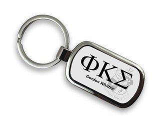 Phi Kappa Sigma Chrome Crest - Shield Key Chain
