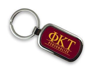 Phi Kappa Tau Chrome Custom Keychain