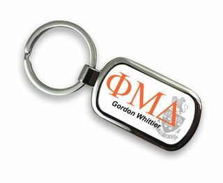 Phi Mu Delta Chrome Crest - Shield Key Chain
