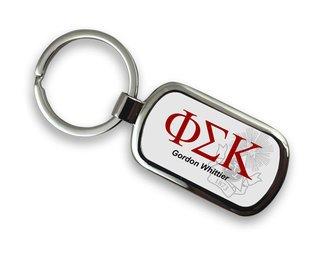 Phi Sigma Kappa Chrome Crest - Shield Key Chain