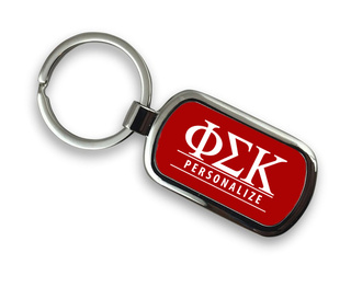 Phi Sigma Kappa Chrome Custom Keychain