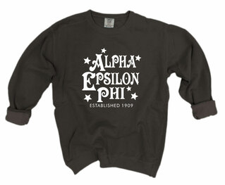 Alpha Epsilon Phi Comfort Colors Old School Custom Crew