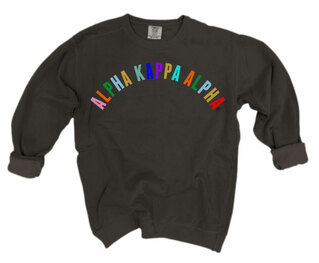 Alpha Kappa Alpha Comfort Colors Rainbow Arch Crew