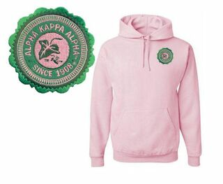 DISCOUNT-Alpha Kappa Alpha Patch Seal Hooded Sweatshirt