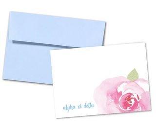 Alpha Xi Delta Floral Script Notecards(6)
