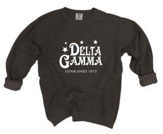 Delta Gamma Comfort Colors Old School Custom Crew