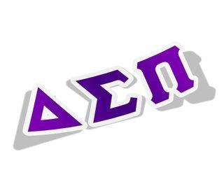 Delta Sigma Pi Big Greek Letter Window Sticker Decal