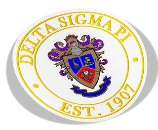 Delta Sigma Pi Circle Crest - Shield Decal