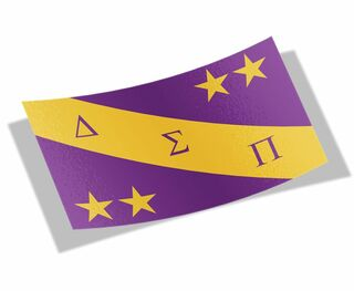 Delta Sigma Pi Flag Decal Sticker