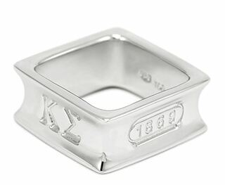 Kappa Sigma Sterling Silver Square Ring