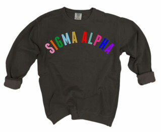 Sigma Alpha Comfort Colors Rainbow Arch Crew