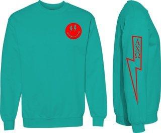 Alpha Chi Omega Comfort Colors Lightning Crew Sweatshirt