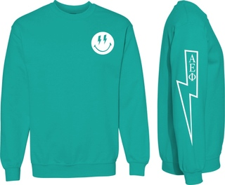 Alpha Epsilon Phi Comfort Colors Lightning Crew Sweatshirt