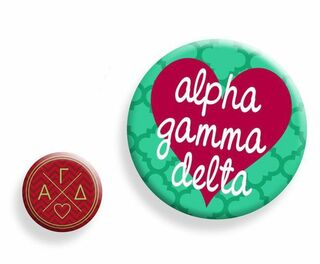 Alpha Gamma Delta Button Set