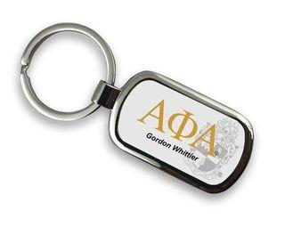 Alpha Phi Alpha Chrome Crest - Shield Key Chain