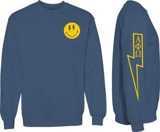 Alpha Phi Omega Comfort Colors Lightning Crew Sweatshirt