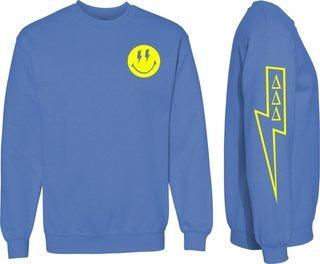 Delta Delta Delta Comfort Colors Lightning Crew Sweatshirt