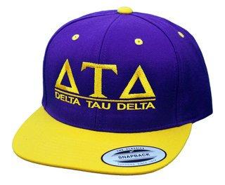 Delta Tau Delta Flatbill Snapback Hats Original